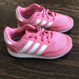 Toddler Adidas pink sneakers